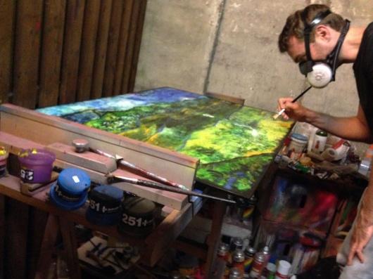 ג'רון ון דר מוסט בעבודה. מתוך אתר התערוכה