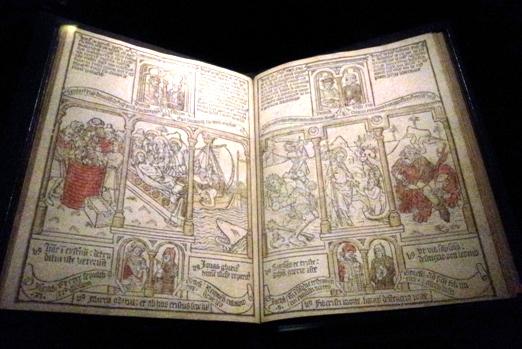 """תנ""""ך לעניים - עיבוד מאויר של ספרי """"הבשורה"""", הולנד 1466"""