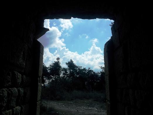 הפתח הראשי של המצודה. נהרסה כמה פעמים