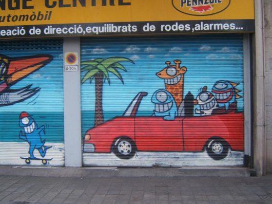 מחלוצי הגרפיטי של ברצלונה - גרפיטי בברצלונטה