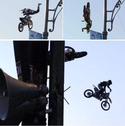 אופנועים פורחים באוויר