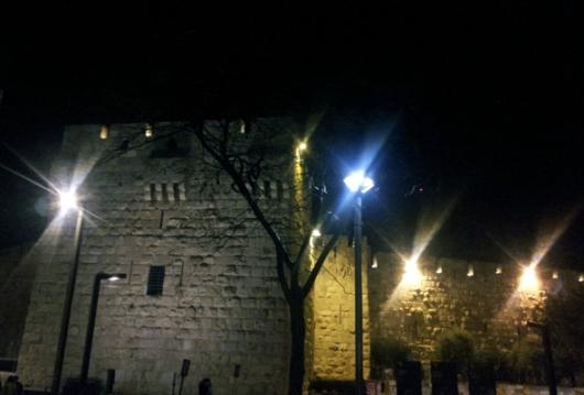 מחוץ לעיר העתיקה, סמוך לשער יפו. להתראות בפעם הבאה