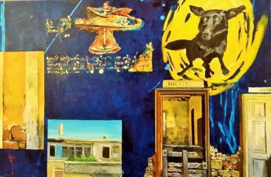 """ילאו ריי, """"הליקופטר"""". מתחבר לחזון הטיסה של דה וינצ'י, ולתרשים המסוק ששרטט בסוף המאה ה-15"""