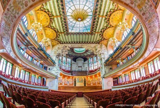 מופת של אקוסטיקה ואסתטיקה Photo: Palau de musica official page