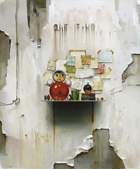 """""""החיים לא מתערבבים ביצירה. היצירה היא דרך חיים"""". עבודה של דים יוז מתוך התערוכה """"מרחב קיומי"""""""