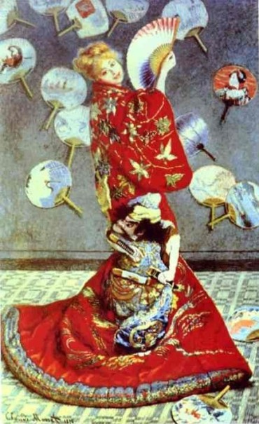 Claude Monet. Madame Monet in Japanese Costume (La Japonaise). 1875