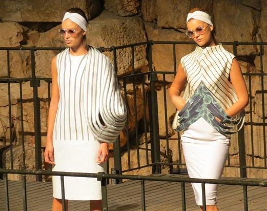 הדגמים של טל קופמן בתצוגת האופנה של בוגרות בצלאל
