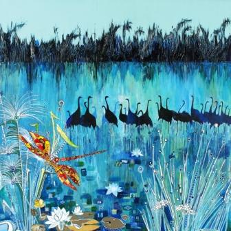 """""""לא לימדתי את עצמי לצייר לפי הזמנה. אני חייבת חופש בחירה"""". אגם החולה, 2012"""