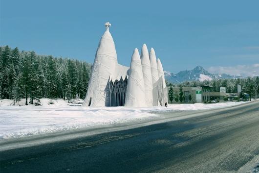 הסגרדה פמיליה שנבנתה מקרח לפני כשנתיים