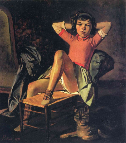 Girl and cat, 1937