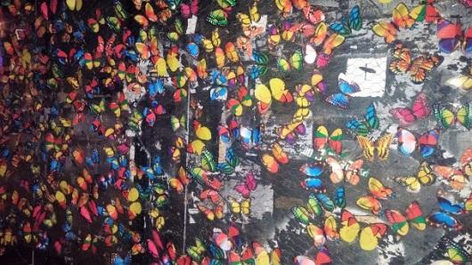 פרפרים מציפים את מדרחוב בצלאל