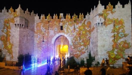 שער שכם, העיר העתיקה, פסטיבל האור 2016