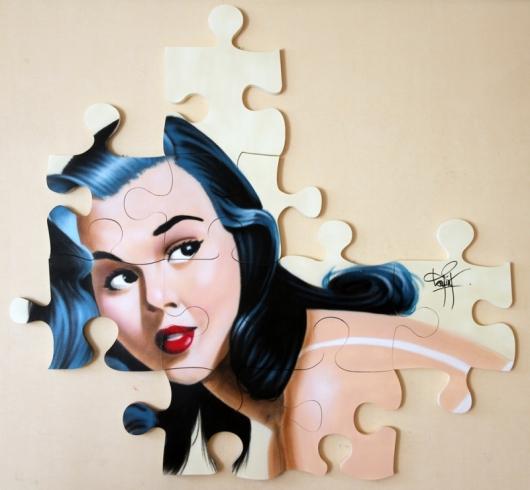 """""""הדבר היחיד שמקשר בין הגרפיטי שלי לאמנות שלי הוא האמצעי: תרסיס הספריי"""". erica 2015"""