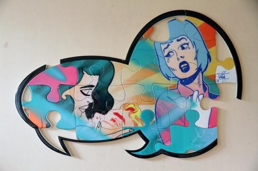 הומאז' לנשות שנות ה-50, שהצייר הפרואני אלברטו ורגס והצייר האמריקאי גיל אלוגרן הפכו למפורסמות. La Rumeur n°3 What a beautiful movie 2013