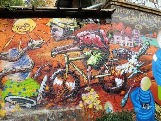 הגענו לכאן ברכיבת אופניים קבוצתית עם מדריך מטעם העיריה. מיטלקובה / צילום: גלית חתן