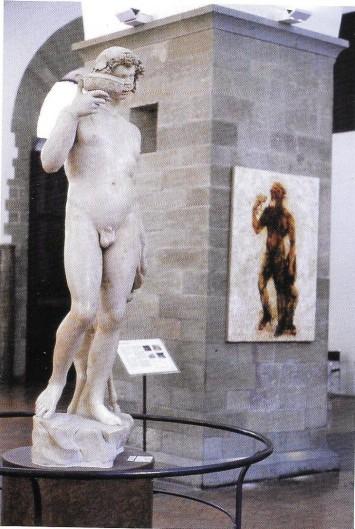 """המיצב המונומנטלי Baccos, גד אפוטקר, 2003. """"להיות מוקף ביצירות של האולד מאסטרס, האמנות שמאז ומתמיד הכי דיברה אליי, היה מרגש בכל יום מחדש"""""""