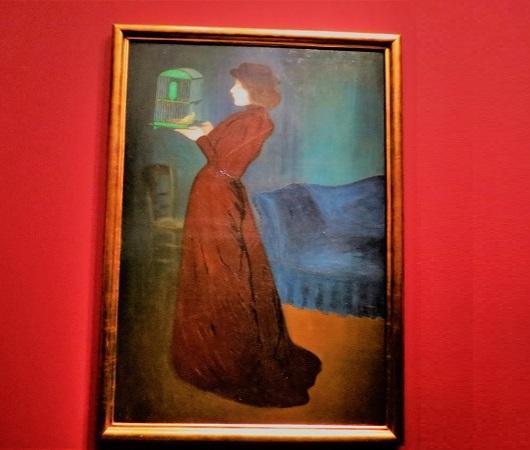הציור שגרם לי להיכנס לתערוכה בארמון לוקסמבורג: אישה עם כלוב, ג'וזף ריפל רונאי, 1892